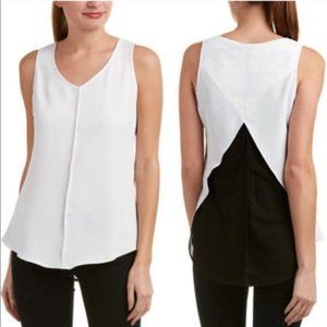Cabi Domino Sleeveless Split Mesh Back Blouse 3076
